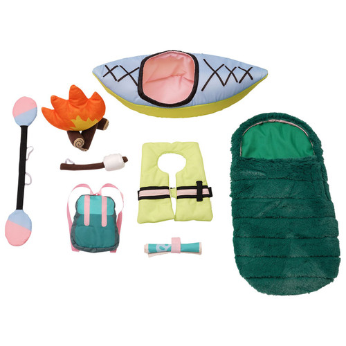 Stella collection happy camper set: camping accessories for soft doll