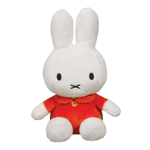 classic miffy bunny plush toy, red dress