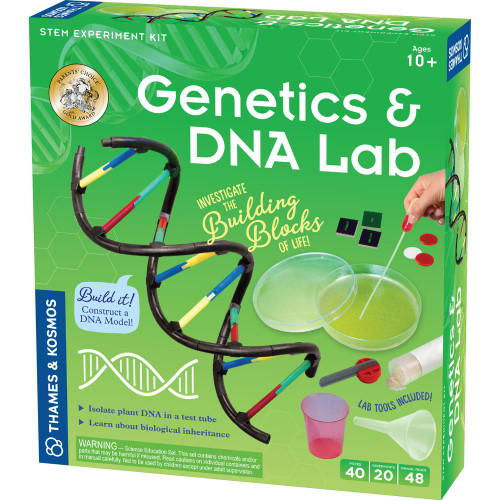 thames and kosmos genetics and dna lab stem kit for kids