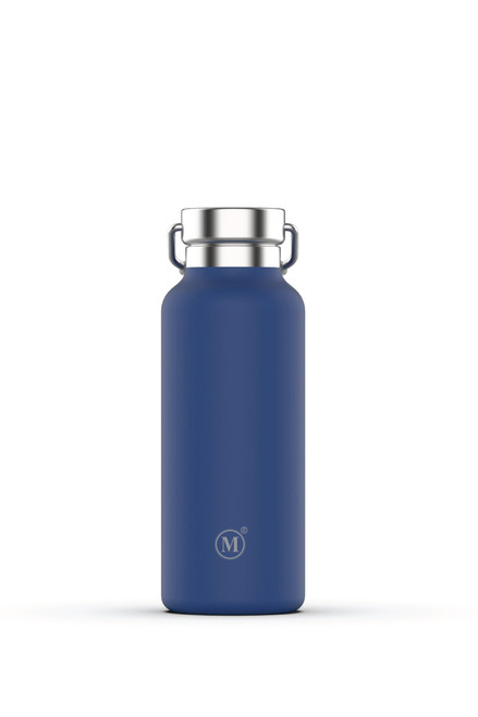 minimal 500 ml insulated stainless steel water bottle, blue colour