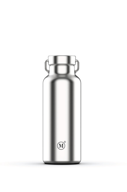 minimal 500 ml insulated water bottle, classic stainless steel colour