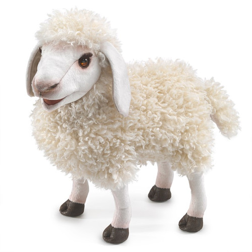 folkmanis wooly sheep hand puppet