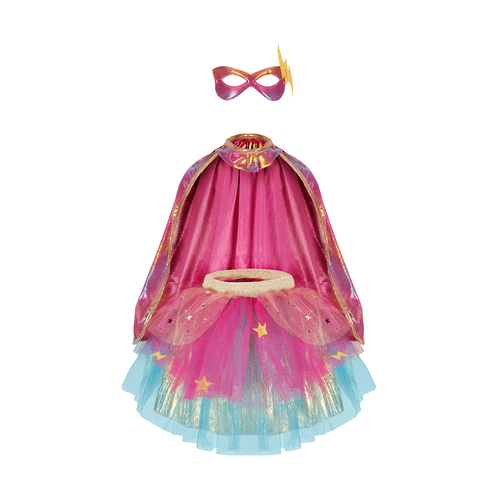 great pretenders super duper 3 piece costume for kids, pink and gold