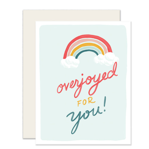 overjoyed for you with rainbow shower card