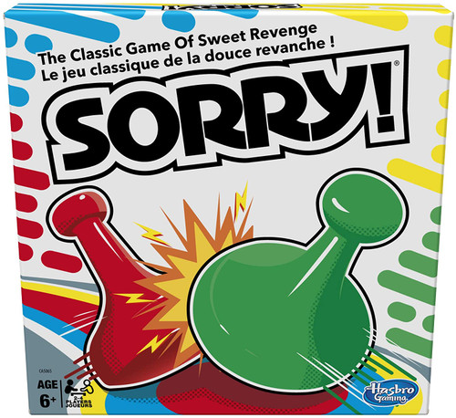 Sorry classic board game shown in box