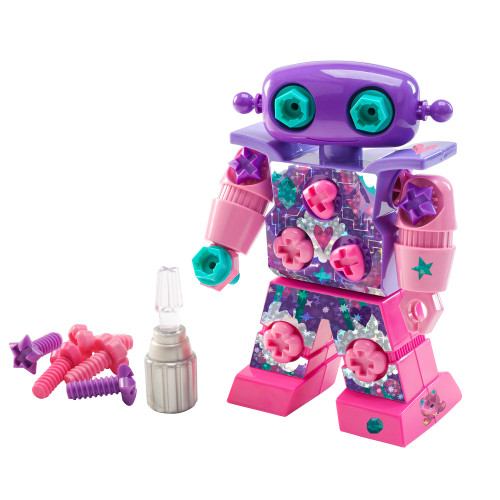 design and drill sparkle bot, a building kit for small kids