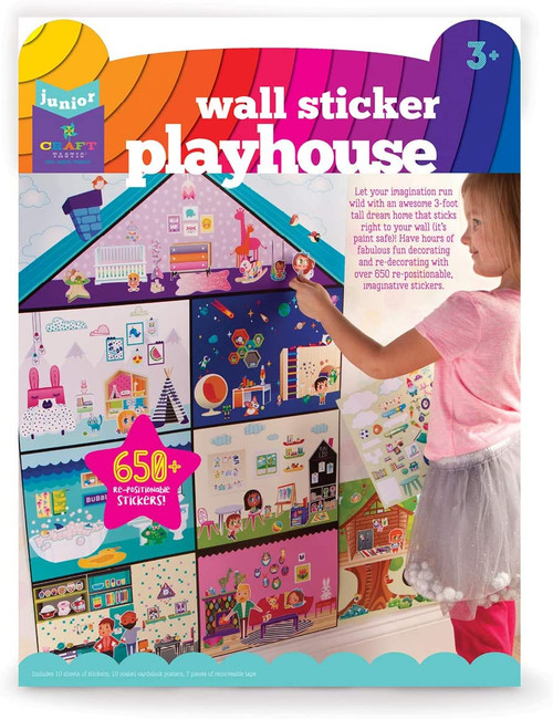 Craftastic wall sticker playhouse set in package