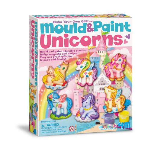 mould and paint unicorns craft kit for kids