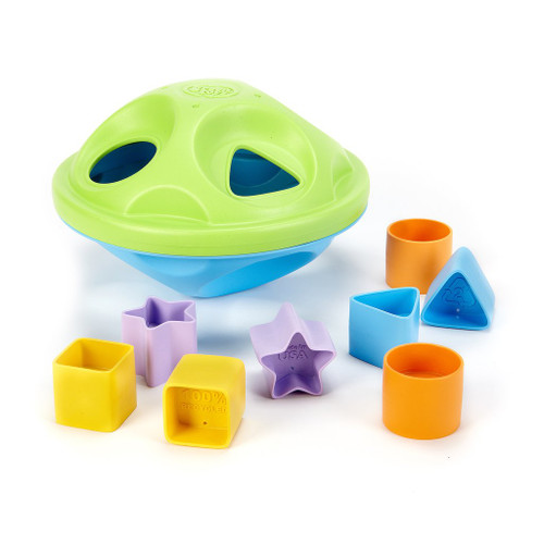 green toys shape sorter toy for babies