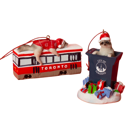 Toronto raccoon ornament set by Main and Local