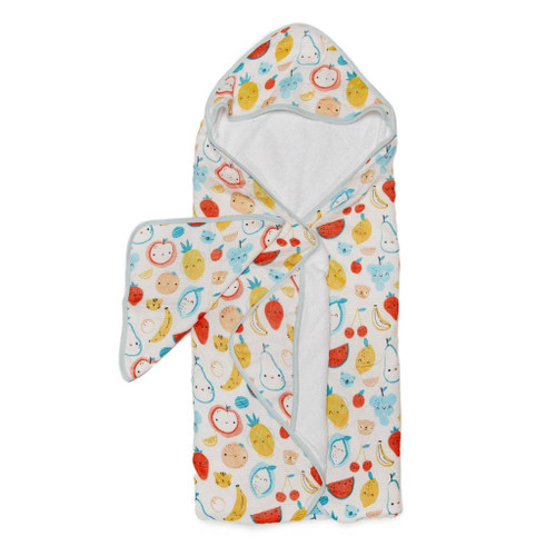 Loulou Lollipop Hooded Towel Set-Cutie Fruits