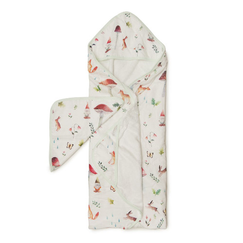 Loulou Lollipop Hooded Towel Set-Woodland Gnome