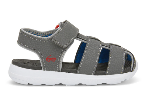 See Kai Run Cyrus IV flexirun grey closed toe washable sandal