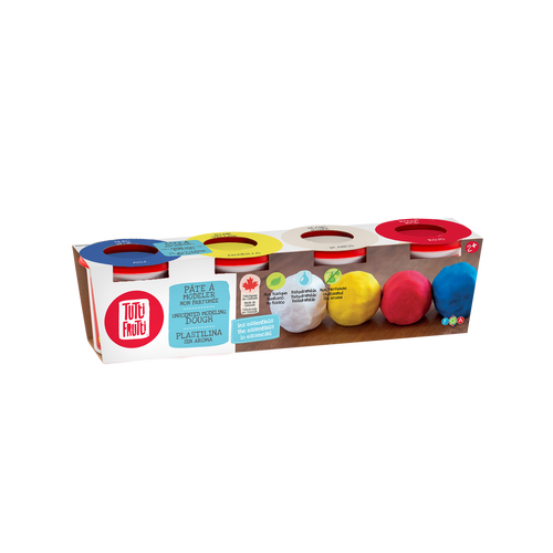 tutti frutti modelling dough, 4 pack unscented