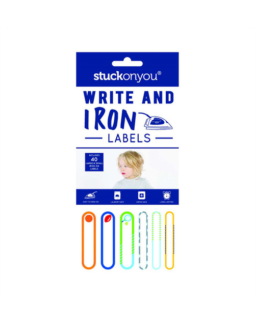 Write & Iron Labels-Blue