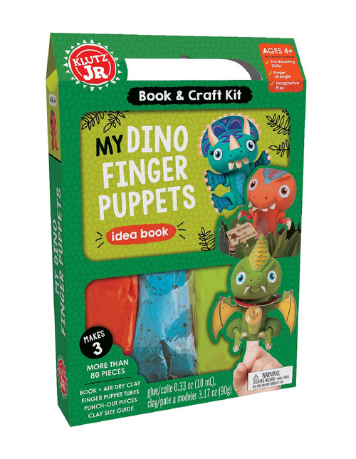 Klutz Dino Finger Puppet Kit 4yrs+