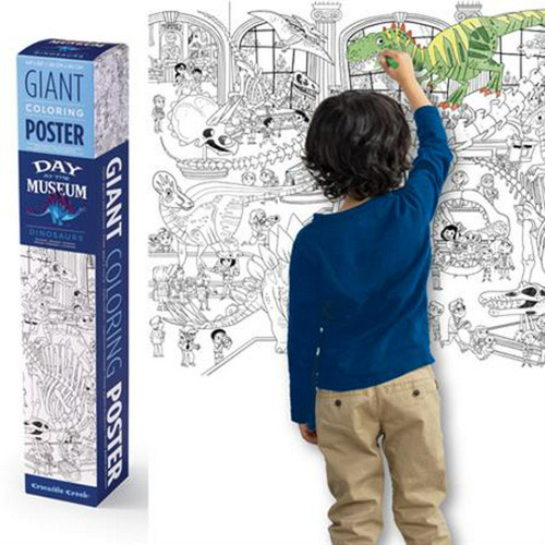 Giant Colouring Poster - Dinosaurs