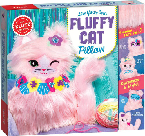 Klutz Sew Your Own Fluffy Cat Pillow - 10+
