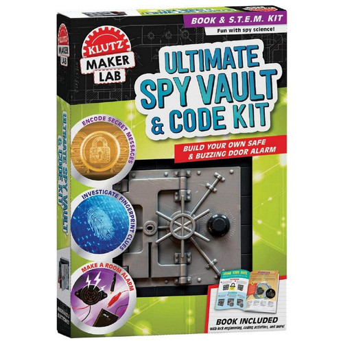 Klutz Maker Lab: Spy Vault and Code Kit 8+