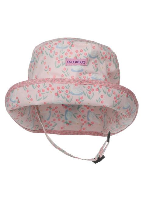 Sweet Swan Baby Sun Hat || Sweet Swan Sun Hat, Front View
