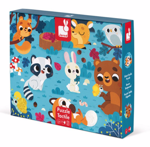 20 Pc. Tactile Puzzle-Forest Amimals