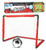 Red soccer goal with ball, child size