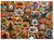 """Cobble Hill 350 piece family puzzle, """"hallowe'en cookies"""", completed puzzle shown"""
