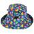 Rainbow Adjustable Sun Hat - Back View