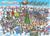 1000 piece puzzle shows a festive winter scene