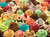 a puzzle with a picture of many many colourful scoops of ice cream