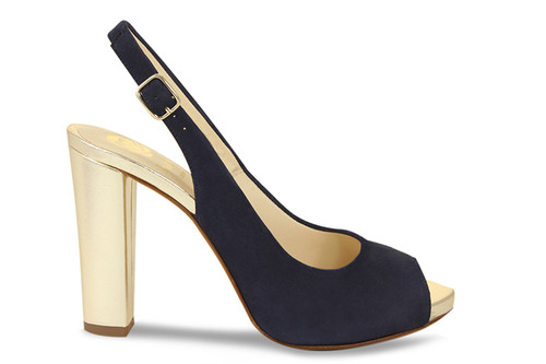 Lucy: Navy Suede / Gold