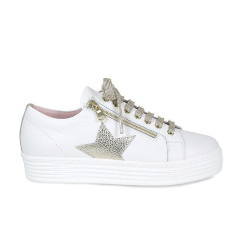 Star: White & Gold Leather