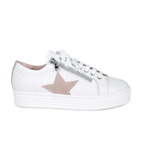 Star: White Leather & Pink Suede
