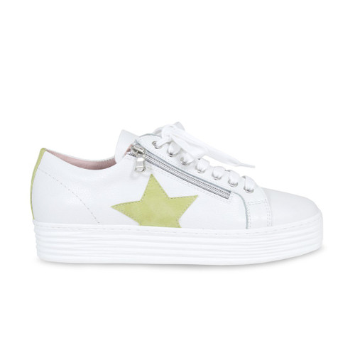 Star: White & Lime Leather