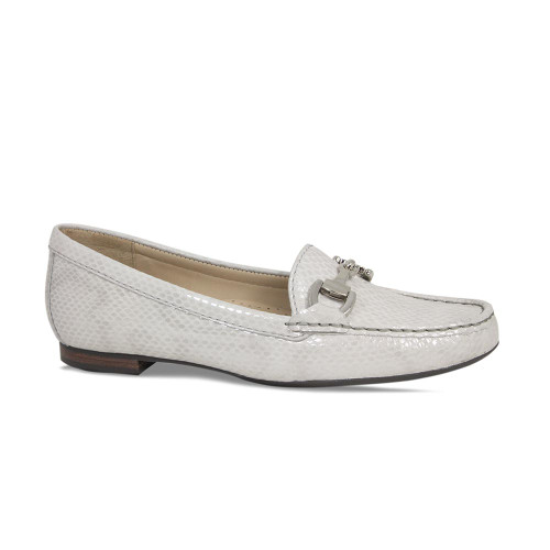 Pale Grey Python Flat Everyday Loafer