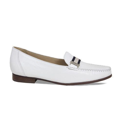 Womens Smart White Loafer