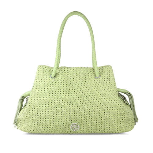 Sass: Lime Leather Weave