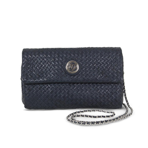 Allure: Navy Leather Weave