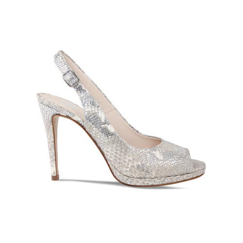 Luba Snake Print Leather High Heeled Sling-back from Lisa Kay London