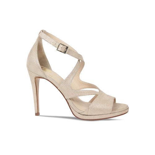 Bronze Lizard High Heel Strappy Sandal from Lisa Kay London