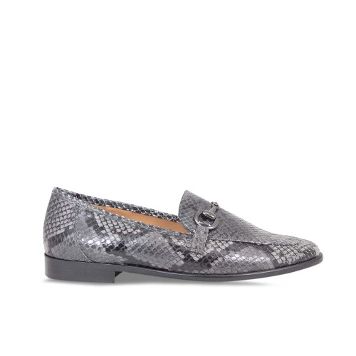 Woman's Classic Grey Snake Loafer