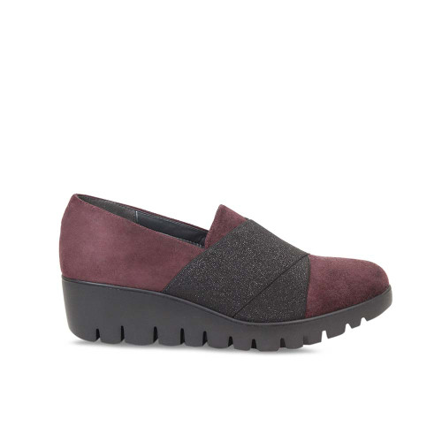 Bordeau Suede Wedge Platform Loafer