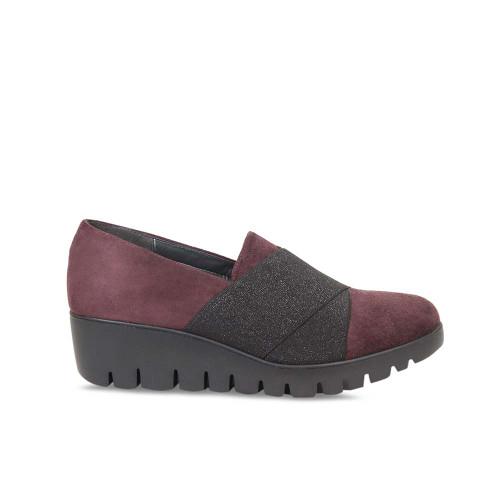 Bordeau Suede Wedge Platform Loafer