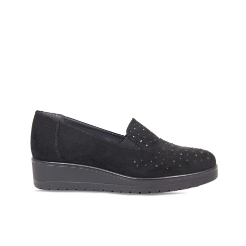 Black Suede Platform Loafer