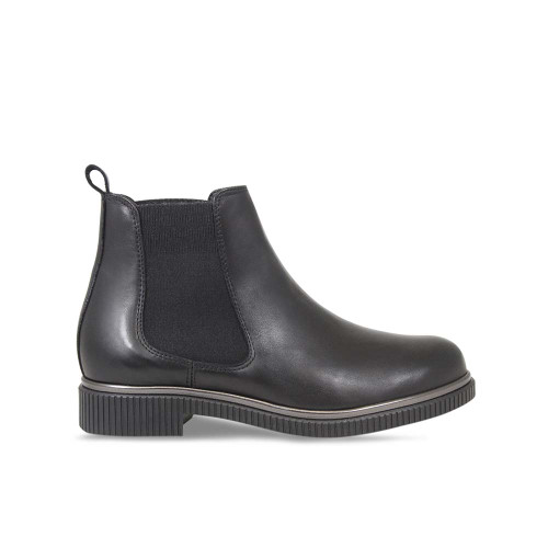 Studded Black Leather Ankle Boot