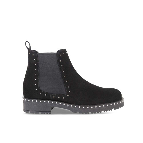 Womens Black Suede Chelsea Boot
