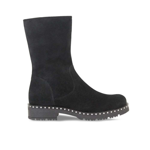 Black Suede Soft Ankle Boot
