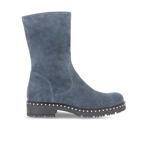 Petrol Suede Soft Ankle Boot