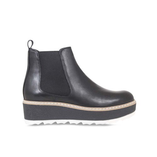 Black Leather Chelsea Ankle Boot