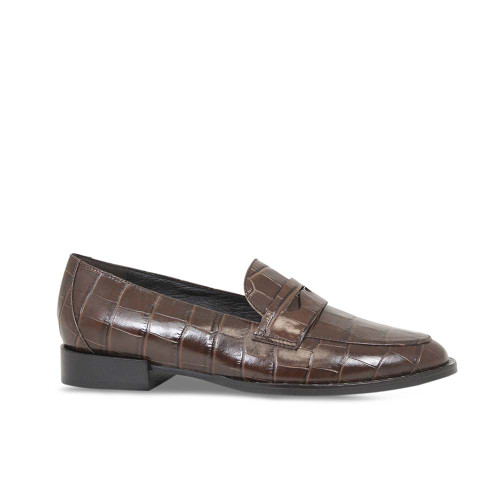 Women's Smart Brown Croc Loafer